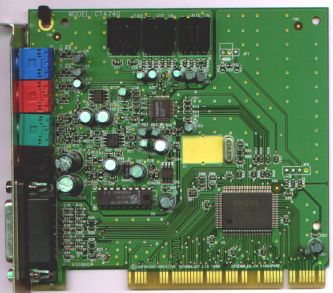 Creative sb audiopci 64v sound card